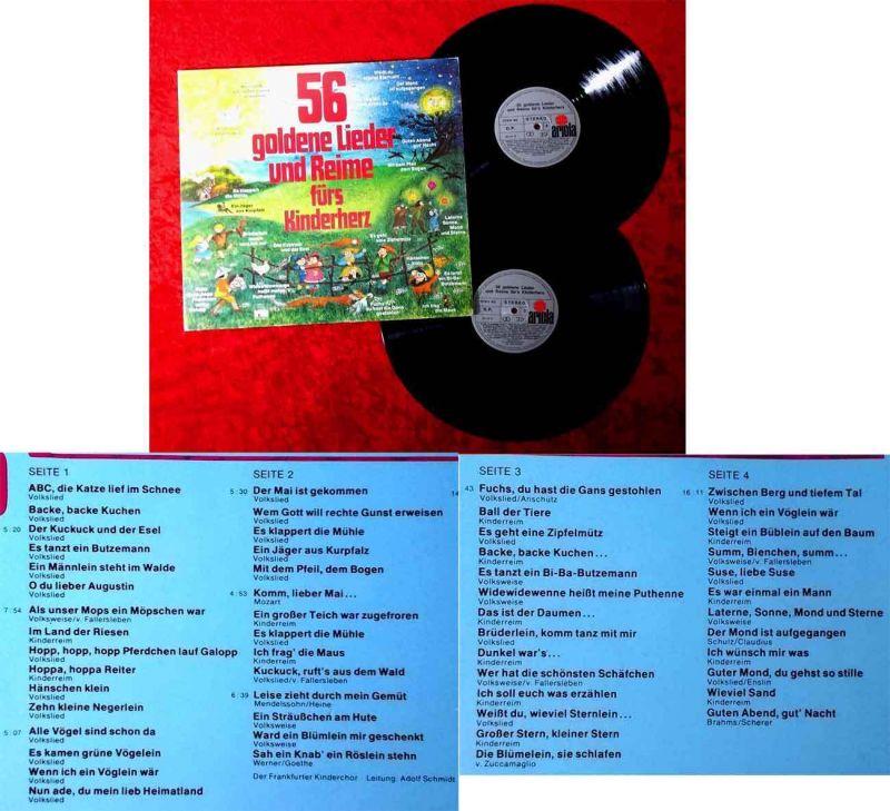 2LP 56 goldene Lieder und Reime fürs Kinderherz (Ariola 27 613 XU)