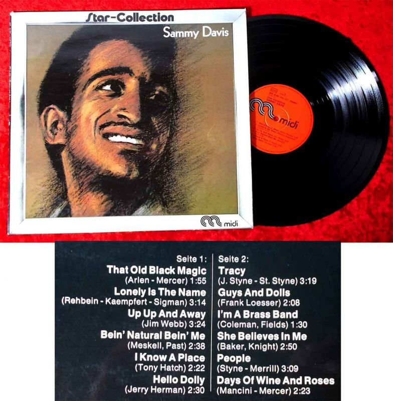 LP Sammy Davis jr.: Star Collection (Midi MID 24 005) D 1972