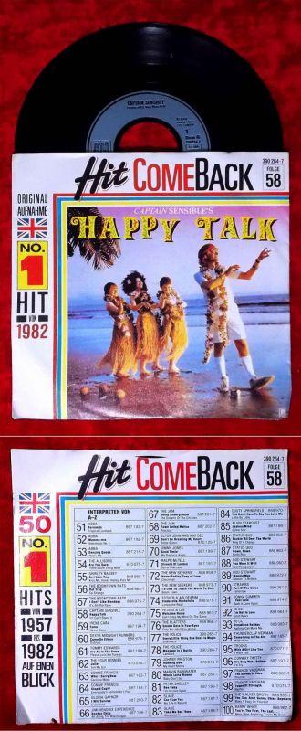 Single Captain Sensible´s Happy Talk (Hit Come Back Folge 58) (A&M 390 264-7) D