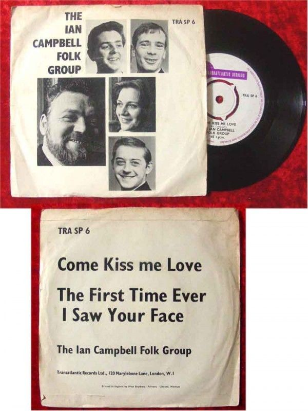 Single Ian Campbell Folk Group Come Kiss me Love