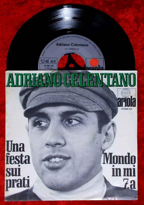 Single Adriano Celentano: Una Festa Sui Prati (Ariola 19 586 AT) D