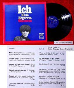LP Hana Hegerova: Ich (Philips Twen Serie Stereo 843 955 PY) D 1967