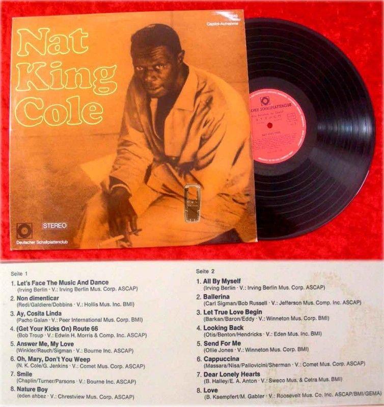 LP Nat King Cole - Deutscher Schallplattenclub