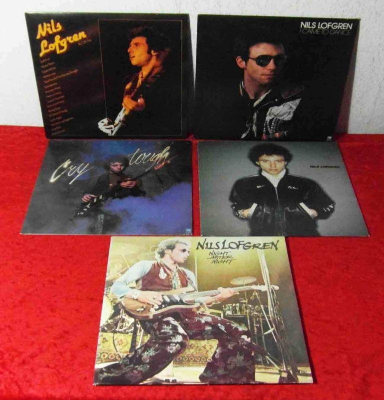 6 Langspielplatten  von NILS LOFGREN - Vinylsammlung -