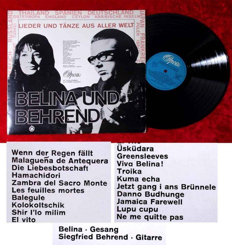 LP Belina und Behrend: Lieder und Tänze aus aller Welt (Opera ST 74 783) D