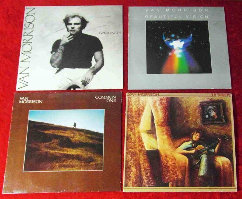 4 Langspielplatten  von VAN MORRISON - Vinylsammlung -
