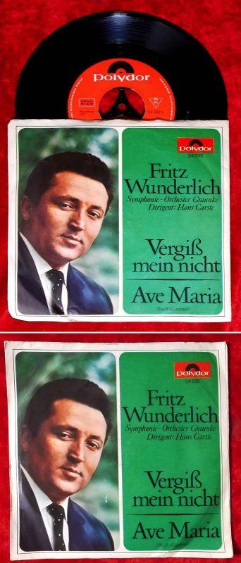 Single Fritz Wunderlich: Vergißmeinnicht / Ave Maria (Polydor 54 033) D 1965