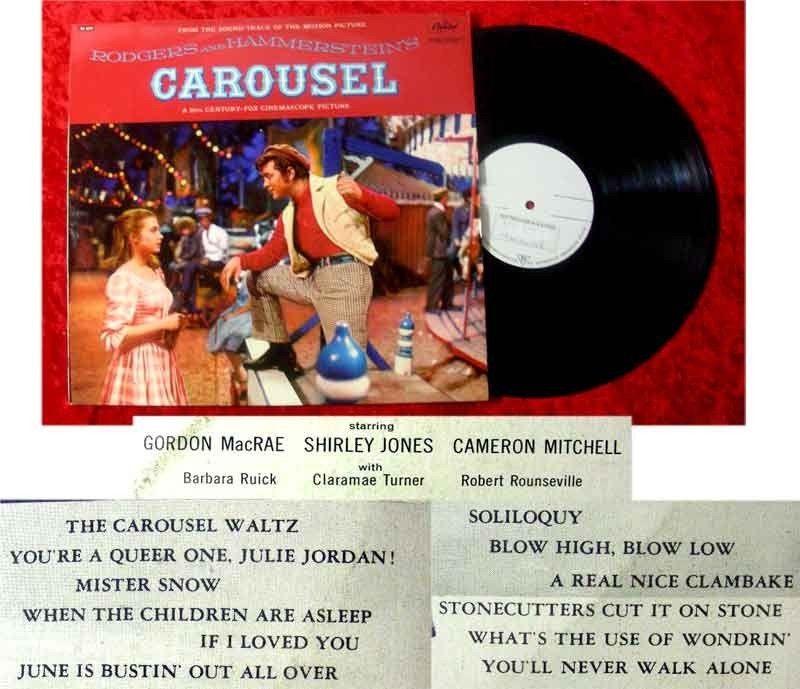 LP Carousel Gordon McRae Shirley Jones
