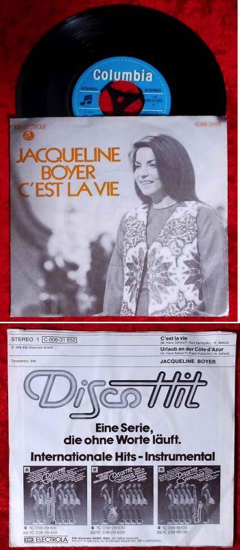 Single Jacqueline Boyer: C´est la vie (Columbia 1C 006-31 652) D 1976