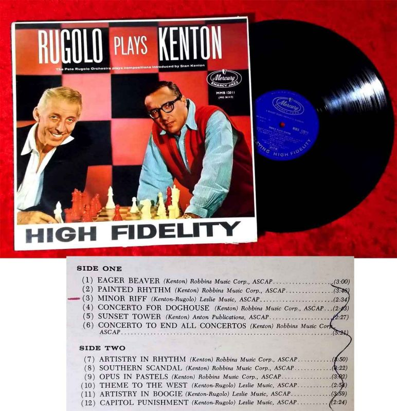 LP Pete Rugolo: Rugolo Plays Kenton (Mercury MMB 12011) UK 1959