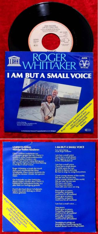 Single Roger Whittaker: I Am But A Small Voice (Aves INT 111.552) D 1980