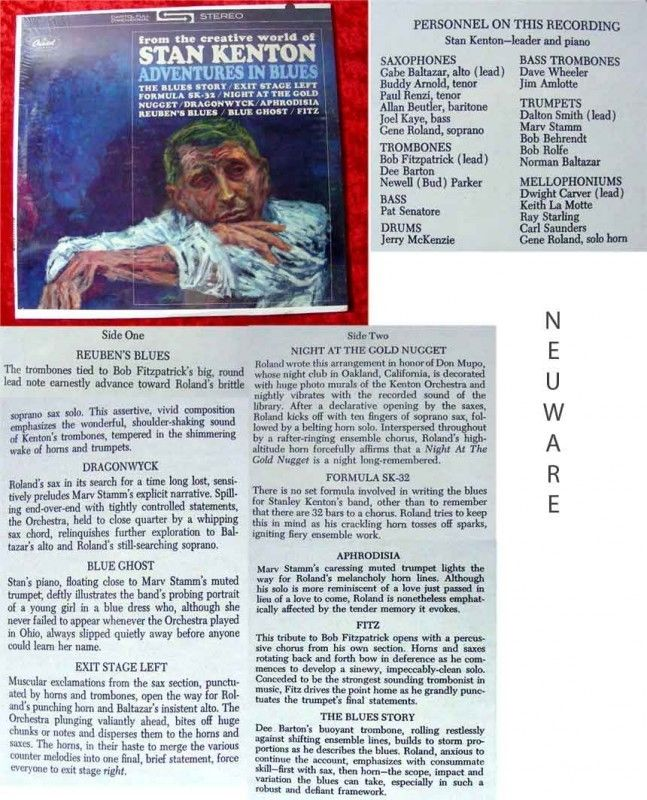 LP Stan Kenton Adventures in Blues Neuware