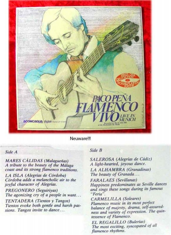 LP Paco Pena Flamenco Vivo Live in Munich 1981 (Fabrikn