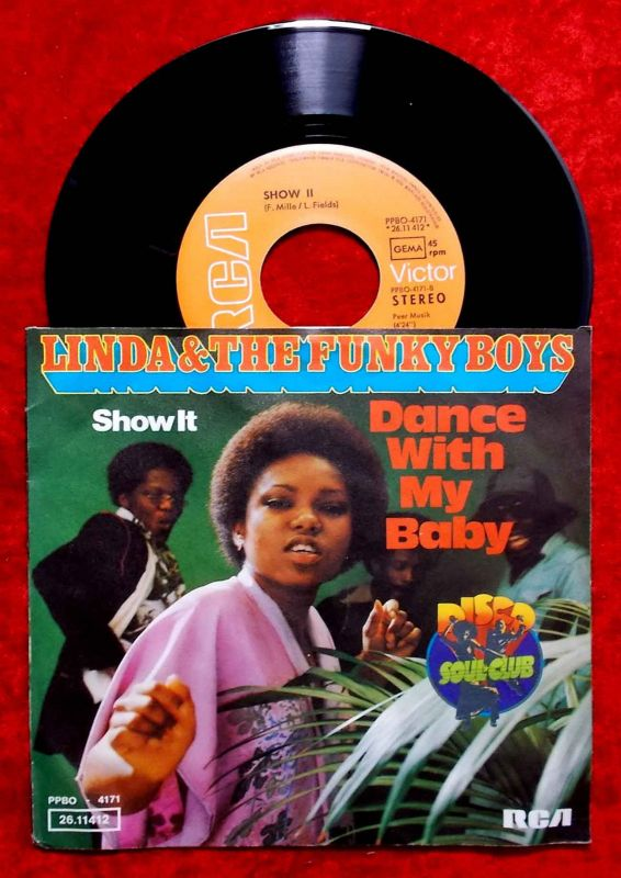 Single Linda & The Funky Boys: Dance with my Baby (RCA PPBO 4171) D 1976