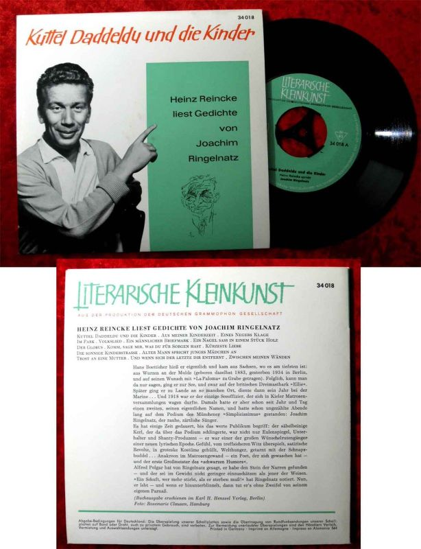 EP Heinz Reincke: Kuttel Daddeldu & die Kinder (DGG 34 018) D 1964 J. Ringelnatz