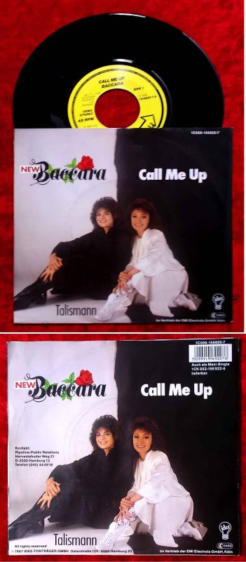 Single New Baccara: Call Me Up (Idee 1C 006-156920-7) D 1987
