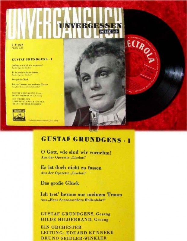 EP Gustaf Grndgens: Unvergänglich Unvergessen (1960)
