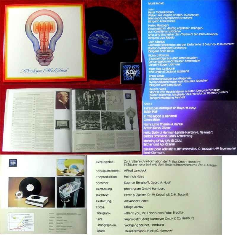 LP Thank you Mr Edison Dagmar Berghoff Georg Hopf Die E