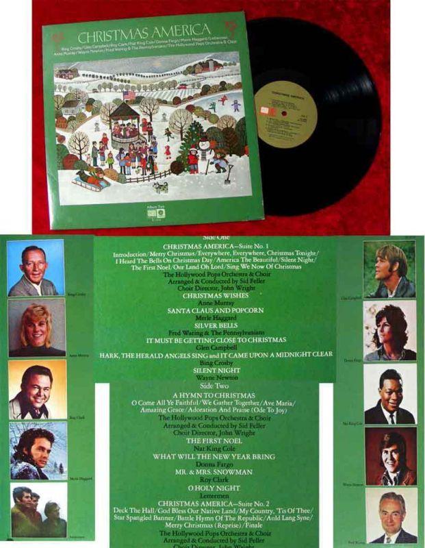 LP Christmas America Bing Crosby Wayne Newton Donna Fargo Lettermen