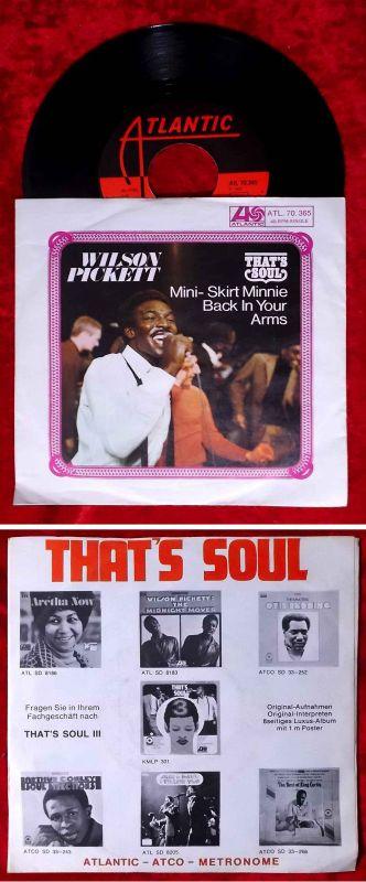 Single Wilson Pickett: Mini Skirt Minnie (Atlantic 70.365) D 1969