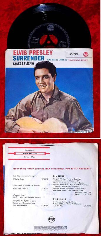 Single Elvis Presley: Surrender / Lonely Man (RCA 47-7850) D