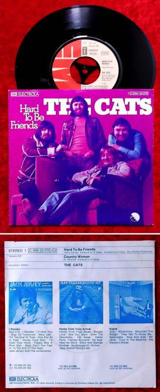 Single Cats: Hard to be friends (EMI 1C 006-25 075) D 1975