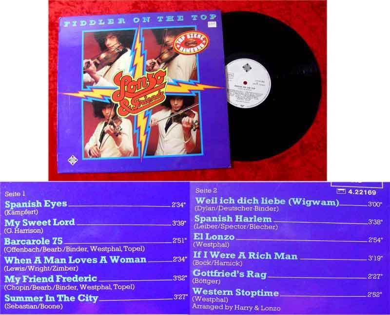 LP Lonzo & Friends: Fiddler on the Top 1975