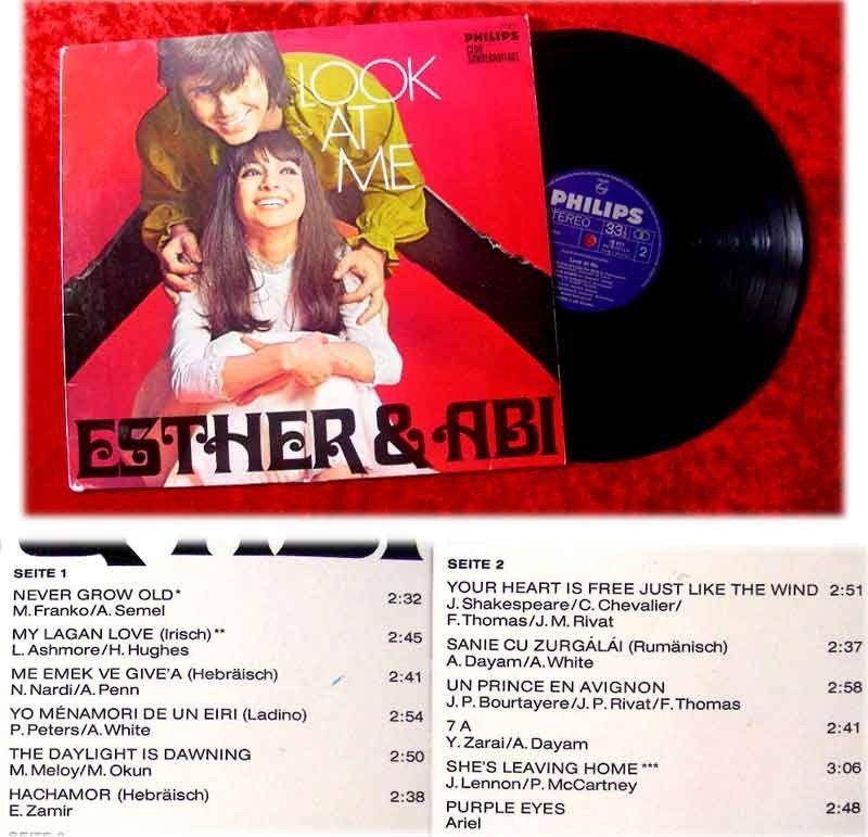 LP Esther und Abi Ofarim Look at me seltene Clubsondera