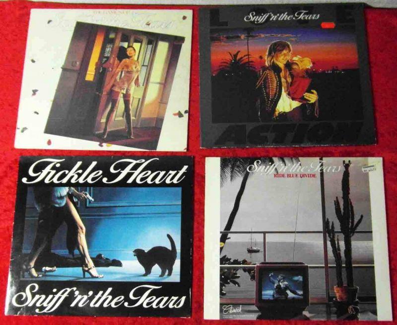 4 Langspielplatten SNIFF`N THE TEARS  - Vinylsammlung -