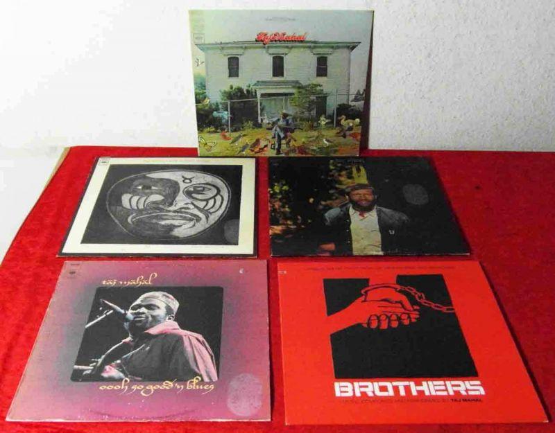 5 Langspielplatten  TAJ MAHAL - Vinylsammlung -