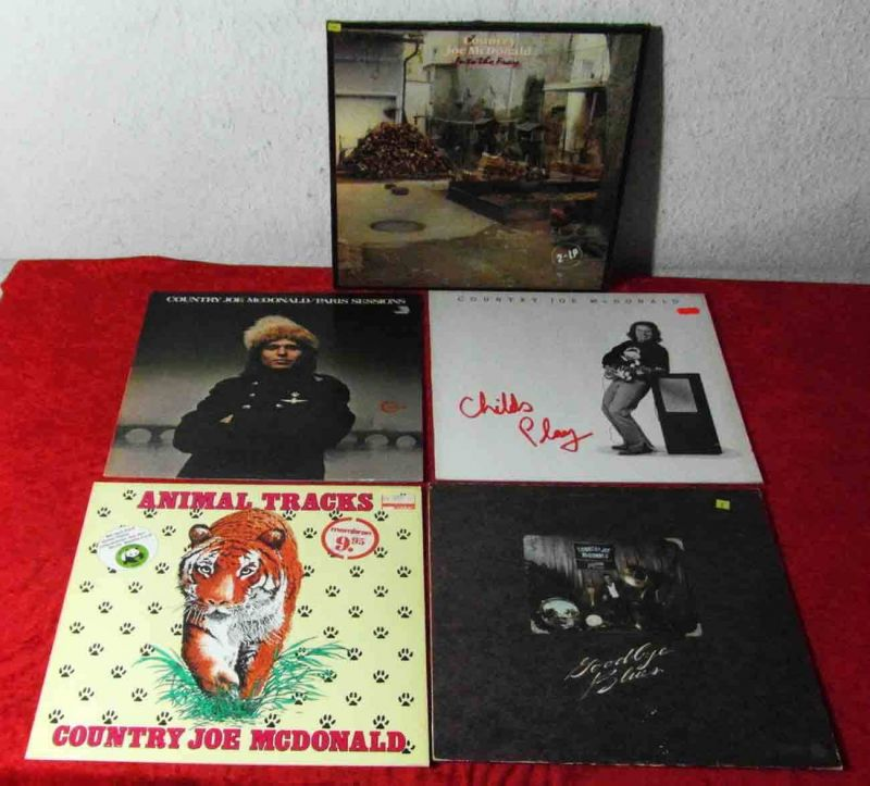 6 Langspielplatten  COUNTRY JOE MCDONALD  - Vinylsammlung -