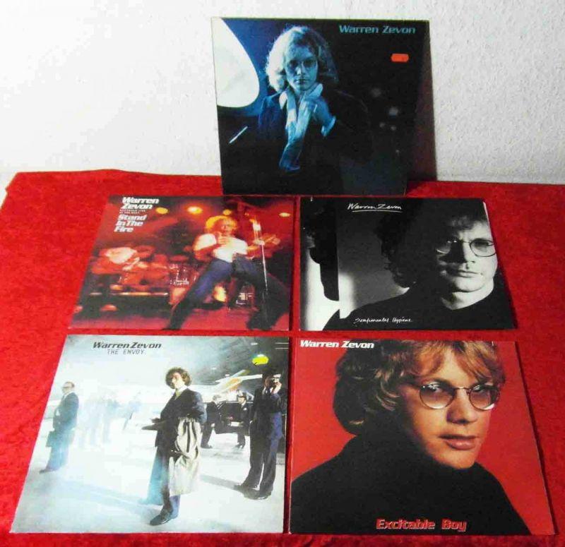 5 Langspielplatten  WARREN ZEVON  - Vinylsammlung - 0