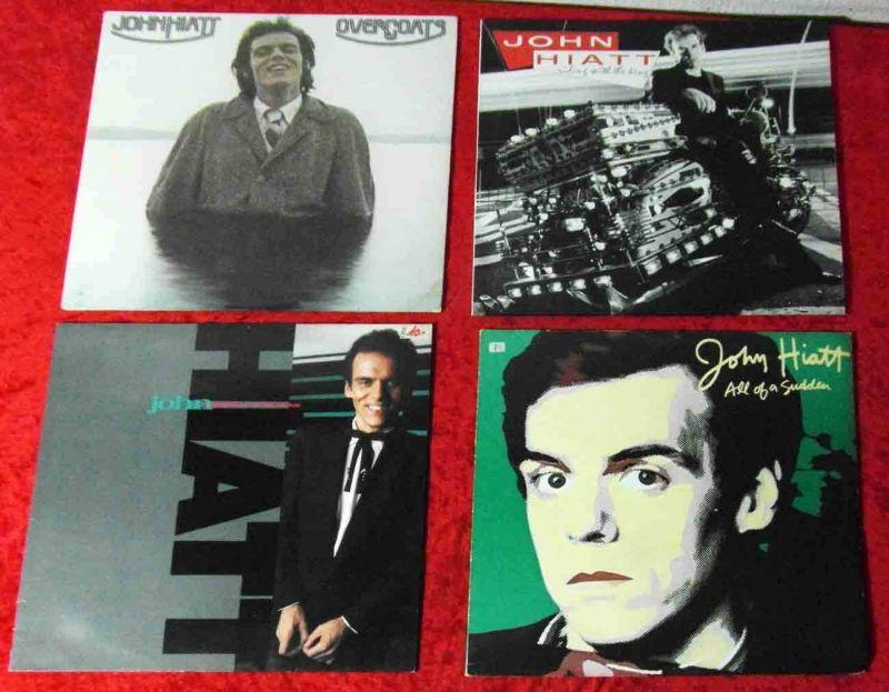 4 Langspielplatten  JOHN HIATT  - Vinylsammlung -