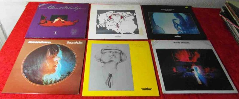 10 Langspielplatten KLAUS SCHULZE  - Vinylsammlung -