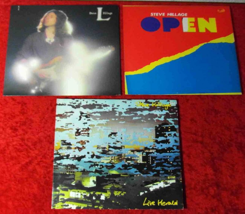 4 Langspielplatten STEVE HILLAGE - Vinylsammlung -