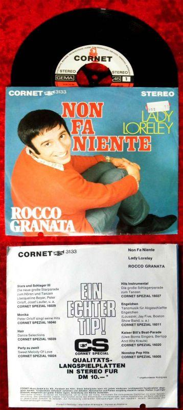 Single Rocco Granata: Non Fa Niente / Lady Loreley (Cornet 3133) D 1969