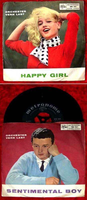 Single Vern Last: Happy Girl / Sentimental Boy (Metronome DM 261) D