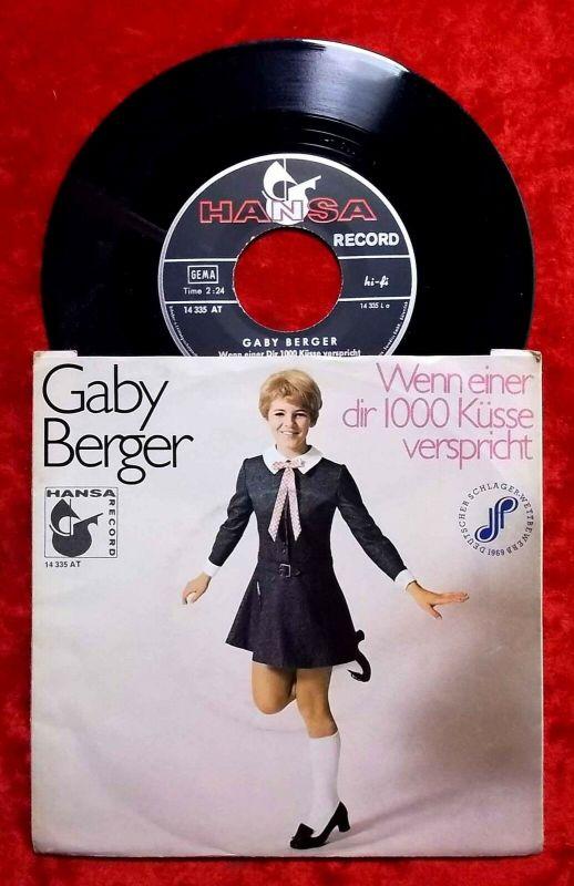 Single Gaby Berger: Wenn einer Dir 1000 Küsse verspricht (Hansa 14 335 AT) D 69