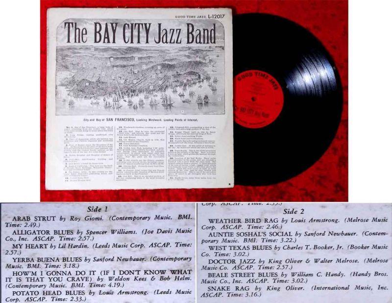 LP Bay City Jazz Band of San Francisco (Good Time Jazz L-12017) US 1956