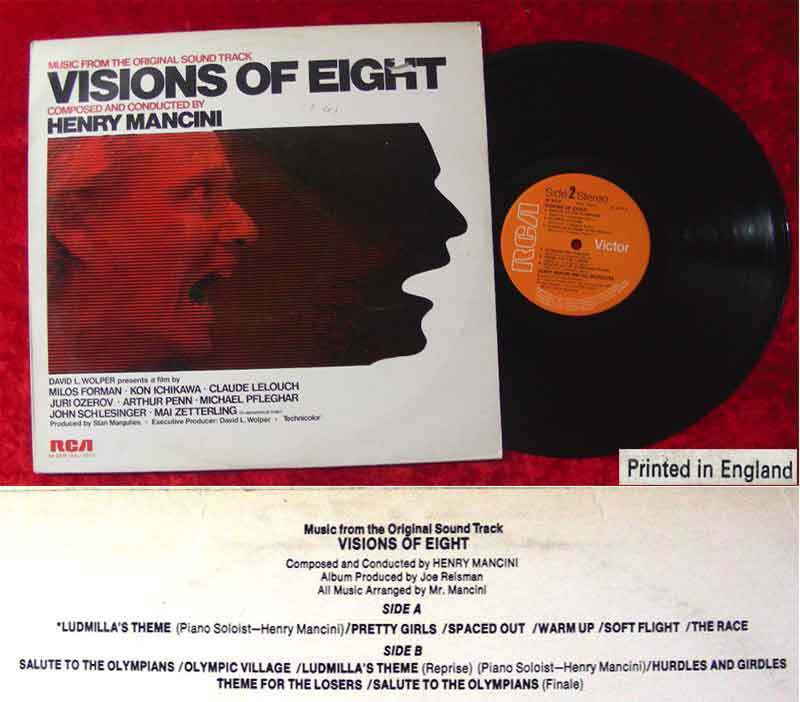 LP Henry Mancini: Visions of Eight (Soundtrack)