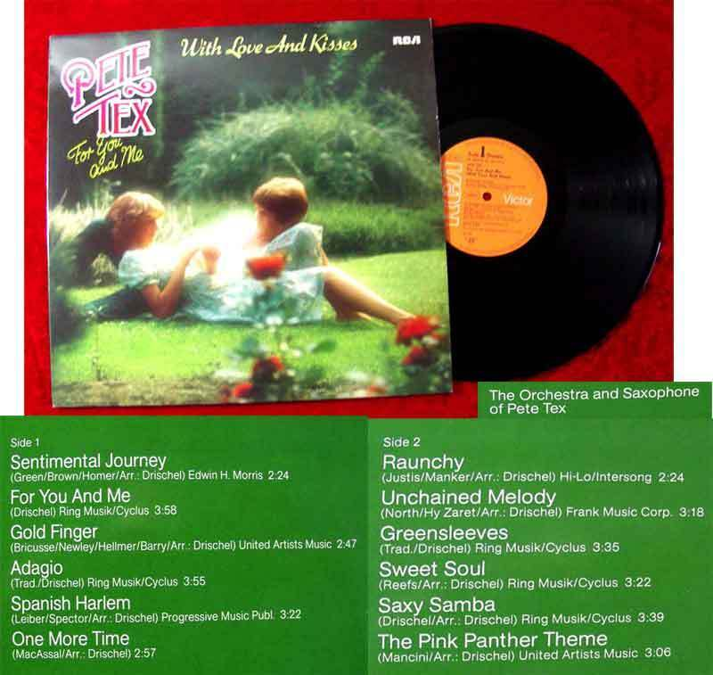 LP Pete Tex: With Love and Kisses (RCA PL 28470) D 1982