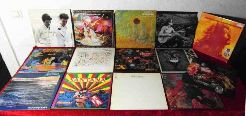 16 Langspielplatten SANTANA   - Vinylsammlung -