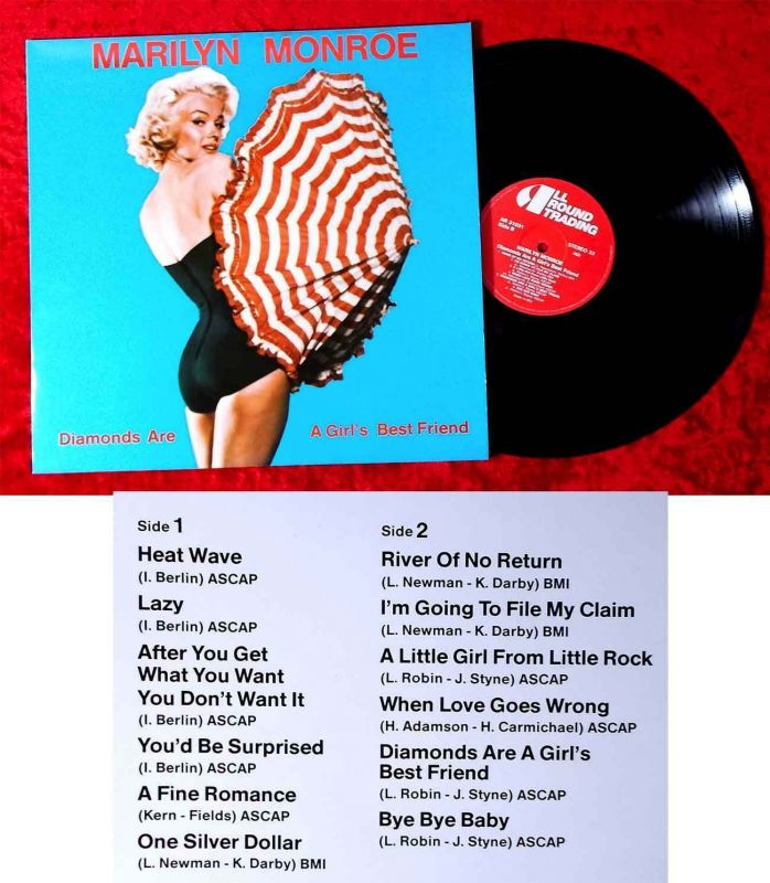 LP Marilyn Monroe: Diamonds are a girl´s best friend (AllTrade 31031) Dänemark