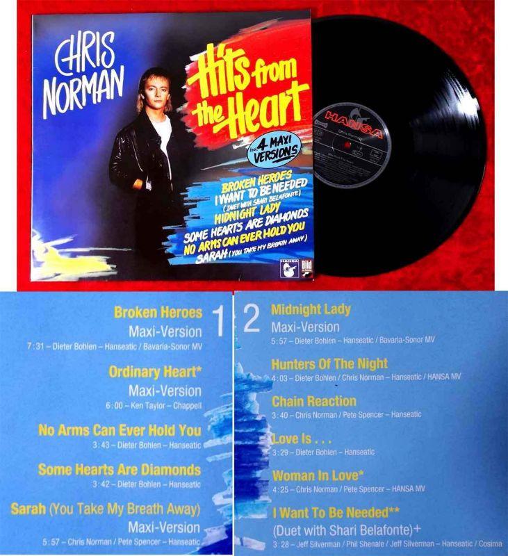 LP Chris Norman: Hits from the Heart incl. 4 Maxi Versions (Hansa 208 948) D1988
