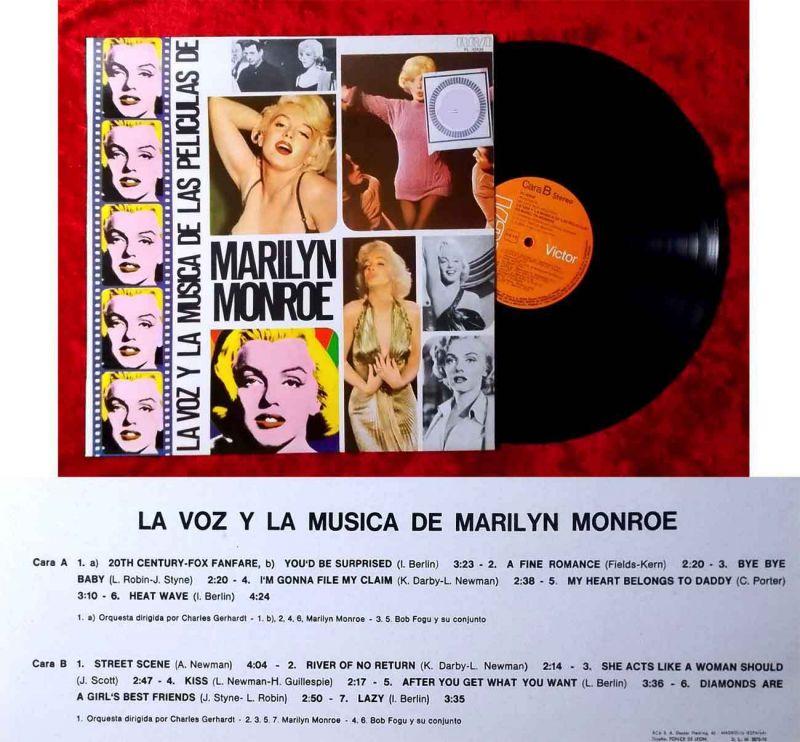 LP Marilyn Monroe: La Voz y la Musica de Marilyn (RCA PL-42430) Spanien 1978