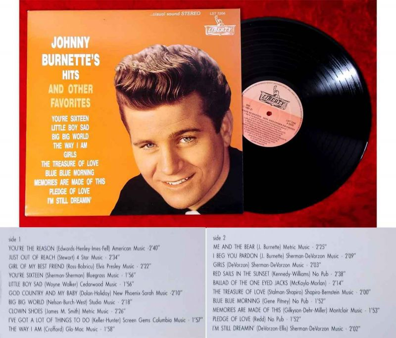 LP Johnny Burnette´s Hits & Other Favorites (LIberty LST 7206) US 1991