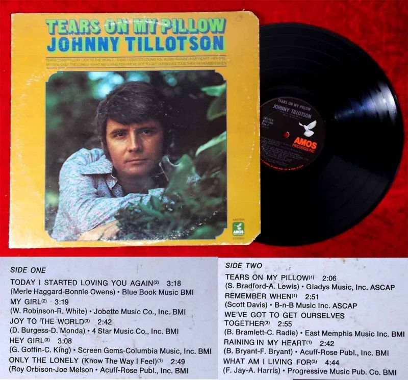 LP Johnny Tillotson: Tears on my Pillow (Amos AAS 7006) US