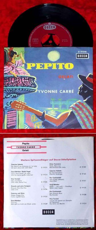 Single Yvonne Carré: Pepito (Decca D 19 246) D