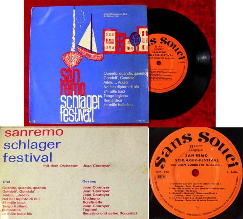 EP Jean Couroyer: San Remo Schlagerfestival (Concert Hall Club GPK 713) D