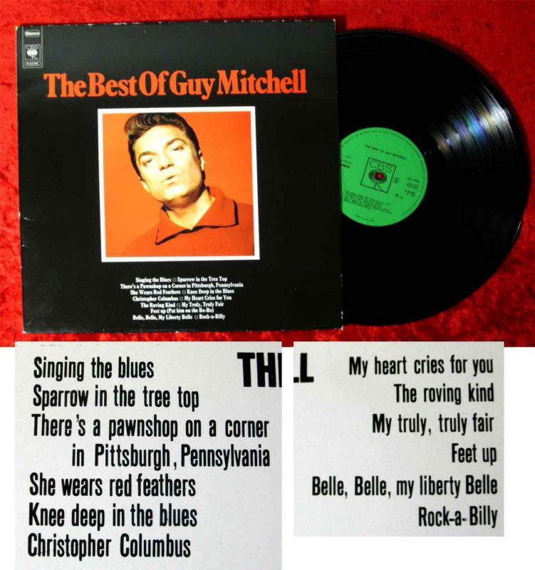 LP Guy Mitchell: The Best of Guy Mitchell (CBS S 53 162) NL 1972
